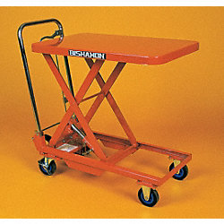 Mobile Scissors Lift Table, Manual