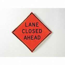 Road Sign, Lane Closed Ahead, 36 x 36In
