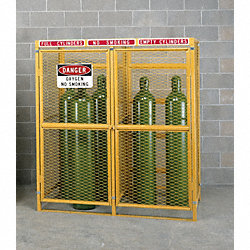 Gas Cylinder Cabinet, Vertical, Welded