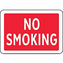 No Smoking Sign, 7 x 10In, R and BK/GRA