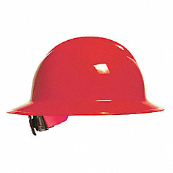 Hard Hat, FullBrim, NonSlotted, 6Rtcht, Red