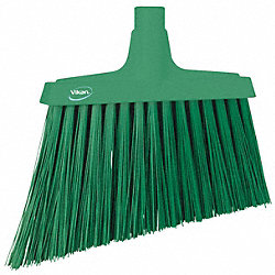Broom Slim, Angle, Stiff Bristle, Green