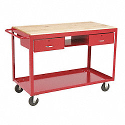 Mobile Worktable, 36x48x24 In., Gray
