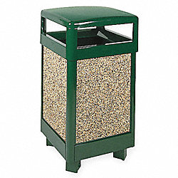 Waste Receptacle, Green, 29 gal