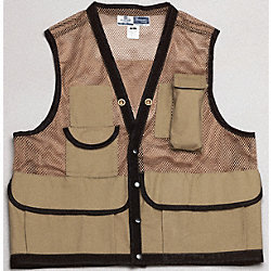 Field Vest, L, Tan, Cotton, Zipper