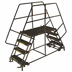 Rolling Work Platform, Steel, Dual, 50 In.H