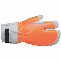 Cut Resistant Gloves, Orange, M, 1 Pr