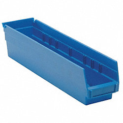 Shelf Bin, 17-1/8L x 4-1/8W, Blue