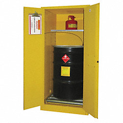 Hazardous Waste Cabinet, 55 Gal., Red