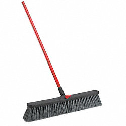 Push Broom, Stiff Polymer, Steel Handle