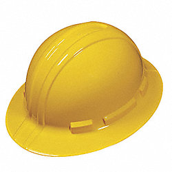 Hard Hat, FullBrim, HDPE, 4Rtcht, Yellow