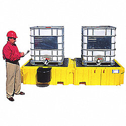 IBC Containment Unit, 61-5/8 In. W, Yellow