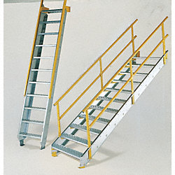 Stair Unit, Galvanized Steel, 11 Steps