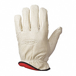 Leather Drivers Gloves, L, PR