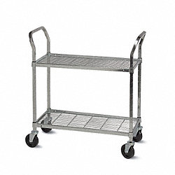 Wire Cart, 18 In. W, 48 In. L, Steel