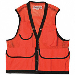 Field Vest, 3XL, Orange, Nylon
