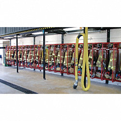 Turnout Gear Rack, Wall Mount, 8 Comprtmnt