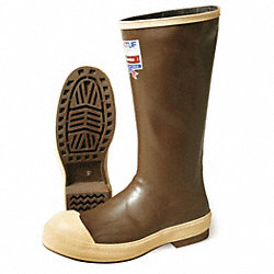 Knee Boots, M, 14, Steel Toe, Copper/Tan, 1PR
