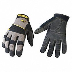 Mechanics Gloves, Gray, M, PR