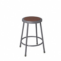 Round Stool, Gray Powder Finish, 25 to 33