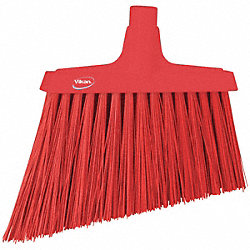 Broom Slim, Angle, Stiff Bristle, Red