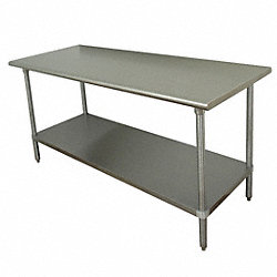 Work Table, 72 x 36 x35-1/2 In., SS Top