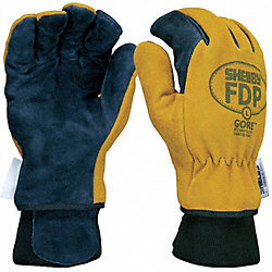 Firefighters Gloves, L, Pigskin Lthr, PR