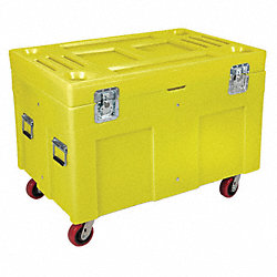 Poly Site Box, Yellow, 15 cu. ft., 45 In.