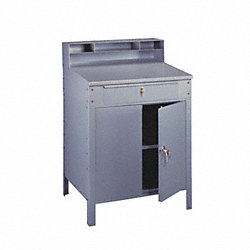 Shop Desk, Color Gray, 34-1/2Wx53Hx29D