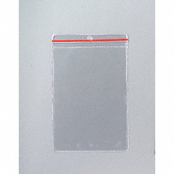 Zip Lock Env, 6-1/2 x 4-1/2 In, Clear, PK10