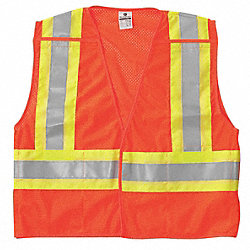 Breakaway Hi Vis Vest, Class 2, XL, Orange