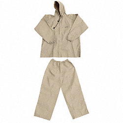 2 Piece Rainsuit w/Hood, Khaki, Small