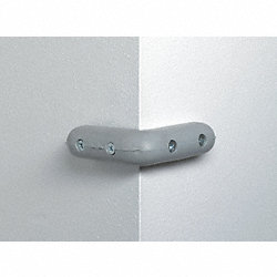 Corner Bumper, 4-1/4 In, Neoprene, Gray