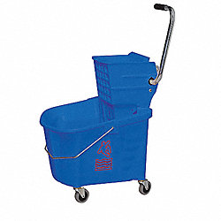 Mop Bucket and Wringer, 35 qt., Blue