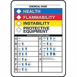 NFPA Label, 10 In. H, 7 In. W