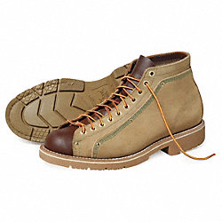 Roofers Shoes, Pln, Mens, 13W, Tan/Brown, 1PR