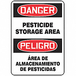 Danger Sign, 14 x 10In, R and BK/WHT, Text