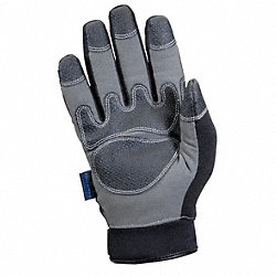 Cold Protection Gloves, M, Black/Gray, PR
