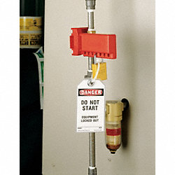 Ball Valve Lockout, 3/8 to 1-1/4, Red