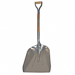 Scoop Shovel, 27 In. Handle, Aluminum