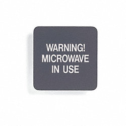 Radiation Sign, 5-1/2 x 5-1/2In, WHT/R, ENG