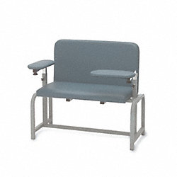 Blood Draw Chair, Gunmetal, 48 In.
