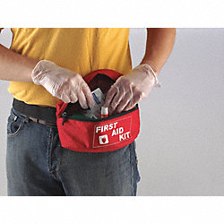 Biohazard Spill Kit Refill, Fanny Pck, Red
