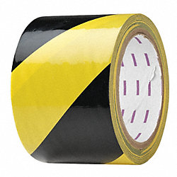 Hazard Marking Tape, Roll, 3In W, 54 ft. L
