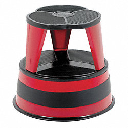 Step Stool, Red, 14-1/2