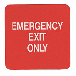 Emergency Exit Fire Sign, 5-1/2 x 5-1/2In