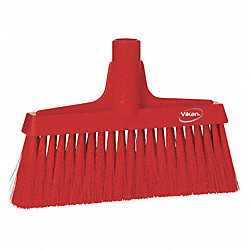 Synthetic Lobby Broom, Red, 9-1/2 In