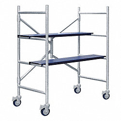 Portable Scaffold, 4 ft. H, Aluminum