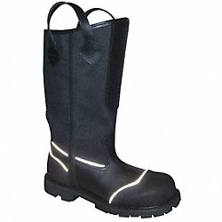 Structural Fire Boots, Mens, 7W, 1PR