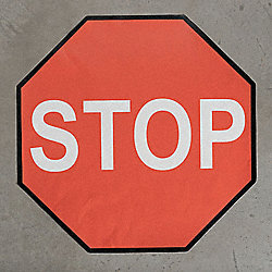 Floor Stop Sign, 48 x 48 In.